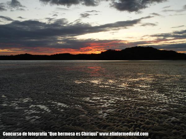 Playa Hermosa, Horconcitos,Chiriqui-Atardecer en la Playa