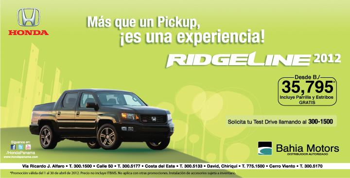 Honda RidgeLine 2012 en Chiriqui